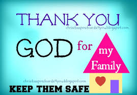 thank you god for my family keep them safe christian cards for you