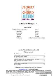 secrets of chord substitutions revealed chord music harmony