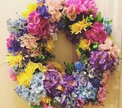 flower wreath make a 344 flower wreath for 15 a of rainbow