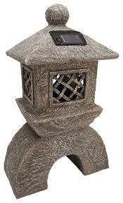 japanese pagoda solar lantern statue asian garden statues and