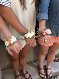 Where Can I Buy A Corsage And Boutonniere For Prom Wrist Corsages Done In A Modern Wire Bracelet Style Classic