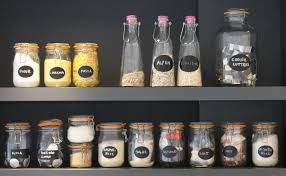 labels for kitchen canisters storage jars a place for everything p a d