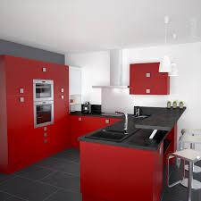 Cuisine Rouge Et Grise by Decoration Cuisine Rouge Gris Collection Avec Cuisine Rouge