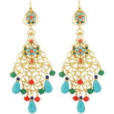 Colorful Chandelier Earrings Beaded Chandelier Earrings Polyvore