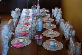 little tea table set celebrating 5 year olds with a tea party perks of being a housewife