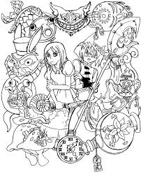 alice in wonderland template trippy alice in wonderland coloring pages u2013 wallpapercraft