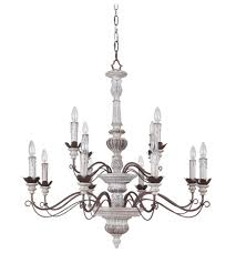 Jeremiah Lighting Chandeliers Jeremiah By Craftmade Rosedale 12 Light Chandelier In Antiqu White