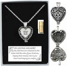 memorial necklace for ashes always in my heart memorial ashes or hair locket pendant necklace