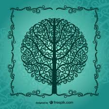 vintage tree silhouette vector free