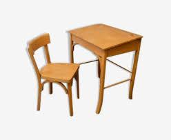 pupitre bureau lot bureau pupitre et chaise enfant baumann bois matériau bois