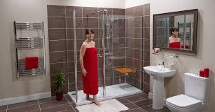 Bathrooms With Corner Showers Walk In Shower Awesome Shower Enclosures Enclosed Shower Units