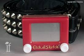 etch a sketch belt buckle lets you draw something at waist height