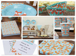 baby shower kits fox theme party planning ideas decor supplies birthday