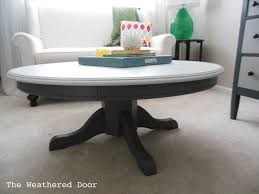 painted pedestal coffee table the weathered door 40 round