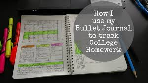 portlandia pam how i use my bullet journal to track college homework