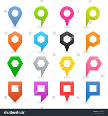 Map Pins 16 Map Pins Sign Location Icon Stock Vector 204143896 Shutterstock