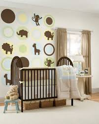 superb baby room ideas jungle animals with brown curtain decor for