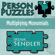 person puzzle multiplying monomials irena sendler worksheet tpt