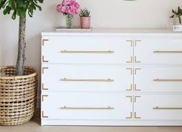 ikea dresser with metal accents ikea hacks the very best of
