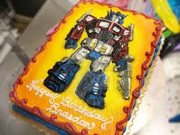 optimus prime cakes optimus prime birthday cake by erisana on deviantart