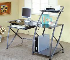 Desk With Top Shelf L Shape Computer Desks Black Glass Tabletop Metal And In Glass Top