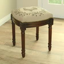 Makeup Stool Furniture Alluring Interesting Grey Cushion Seat And Charming