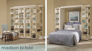 the ultimate in comfort this bed features bi fold bookcase doors