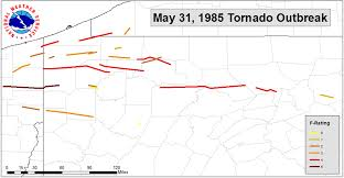 York Pennsylvania Map by May 31 1985 Tornado Outbreak 30th Anniversary