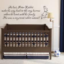 peter rabbit wall decal nursery wall decal baby room wall decal