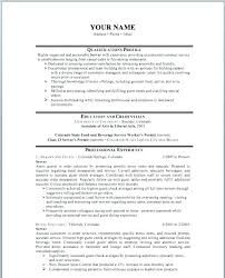 free sample resume format food service resume sample sample resume for restaurant server