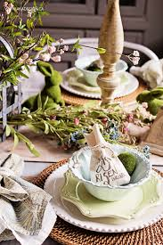 Natural Easter Decorations by Natural Easter Table Setting