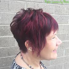 90 classy and simple short hairstyles for women over 50 burgundy