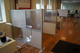 Office Desk Dividers Furniture Cheerful Office Design Ideas Using Transparent Office