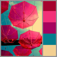 Pink Color Scheme Color Scheme Bright Lively Pink Fuchsia Colorful Airy Fashion