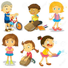 children activities happy children doing different activities royalty free cliparts