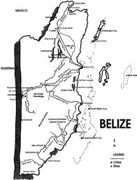 Mesoamerica Map Maya Archaeological Sites Of Belize Belize History