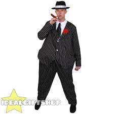men u0027s fat gangster suit adults fancy dress costume hoop waisted
