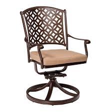Swivel Patio Dining Chairs Woodard Casa Rocking Swivel Patio Dining Chair With Cushion Wayfair