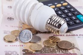 energy of light calculator energy saving concept electric light bulb ruble money and
