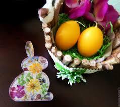 buy easter decoration easter basket holiday decor on livemaster