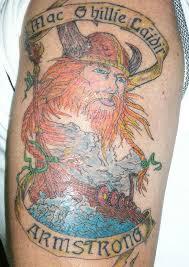 colorful great viking tattoo design on shoulder tattoo design ideas