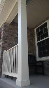 adding pvc trim to front porch columns