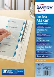 index maker dividers 01812061 avery