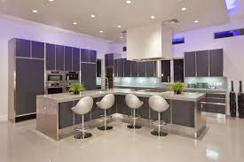 U Shaped Kitchen Designs With Island by U Shaped Kitchen Island Bar Feat Black Floor In Luxury Kitchen