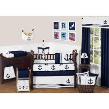 Jojo Crib Bedding Set Sweet Jojo Designs Anchors Away Nautical Baby Bedding 9pc Crib Set