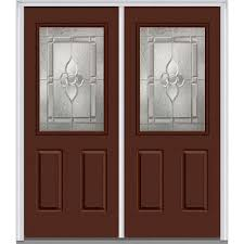 3 Panel Interior Doors Home Depot Red Doors With Glass Fiberglass Doors The Home Depot