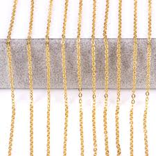 steel necklace wholesale images Luxukisskids promotion 10pcs lot chain 2mm gold silver stainless jpg