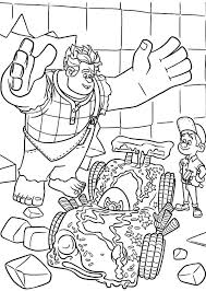 wreck ralph happy felix fix vanellope u0027s car coloring pages