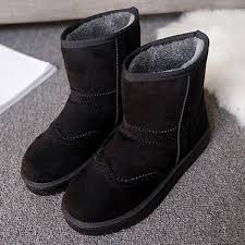 Comfortable Cowboy Boots Winter Women Keep Warm Boots Suede Comfortable Casual Ankle Short