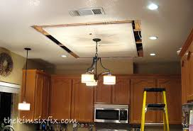 replacing updating fluorescent ceiling box lights with ceiling